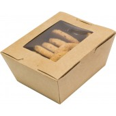 Коробка универсальная с окном крафт