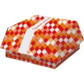 Коробка для бургера бумажная 120х120х70