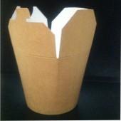 Коробка для лапши с круглым дном картонная крафт 500мл Россия