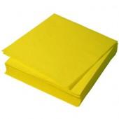 Салфетки бумажные 100 листов желтые 24х24