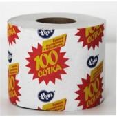 Туалетная бумага однослойная Сотка
