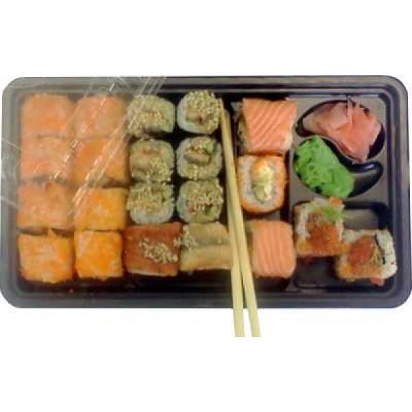 Контейнер для суши и роллов КД-002 с крышкой  (2 порции)