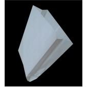 Пакет с V-образным дном ламинированный белый
