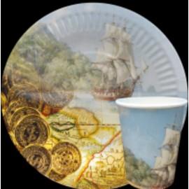 """Тарелка и стакан  бумажная коллекция """"детская""""  дизайн детский"""