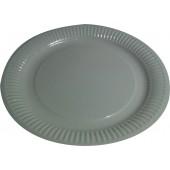 Тарелка картонная круглая белая ламинированная 230 мм
