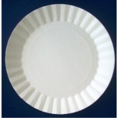 Тарелка картонная круглая белая 230 мм М