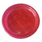 Тарелка одноразовая 200 мм ПП безсекц. цветная