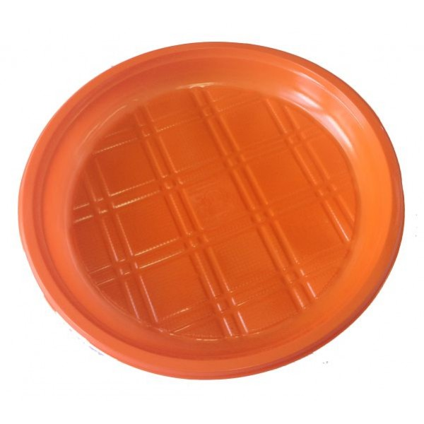 Тарелка пластиковая 200 мм ПП безсекц. цветная