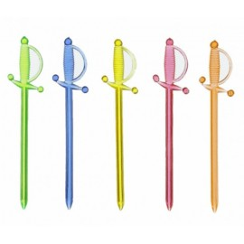 Вилочки для канапе (пики) цветные разной формы
