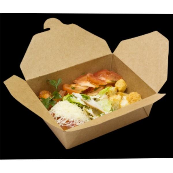 Коробка универсальная ланчбокс для блюд на вынос крафт 950мл