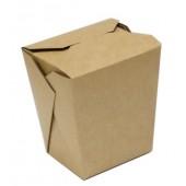 Коробка для лапши с прямоугольным дном  крафт 560 мл