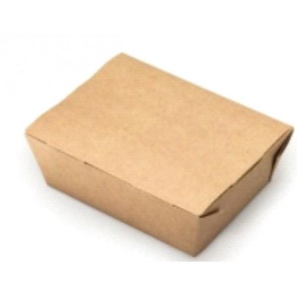 Коробка универсальная ланчбокс для блюд на вынос крафт 1000мл