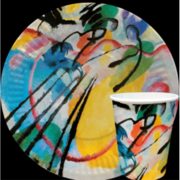Тарелка и стакан  бумажная коллекция (серия) Творчество