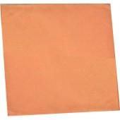 Салфетки бумажные 100 листов персиковые 24х24