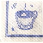 Салфетки бумажные 70 листов белые с рисунком 24х24