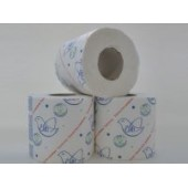 Туалетная бумага однослойная на втулке ЭТ 55