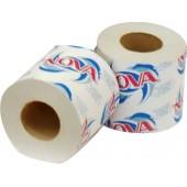 Туалетная бумага однослойная Нова на втулке