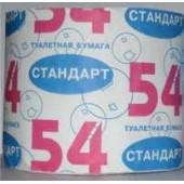 Туалетная бумага однослойная Стандарт