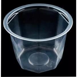 Банка стакан восьмиграный 830 мл с крышкой