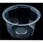 Банка стакан восьмиграный PL-00039 530 мл ПП с крышкой