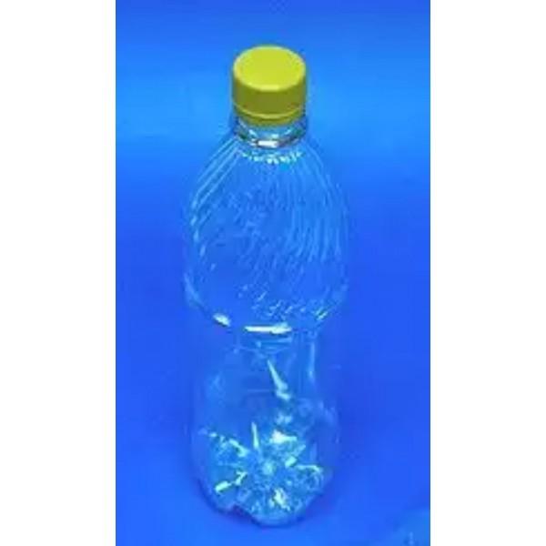 Бутылка 1л ПЭТ прозр. с крышкой