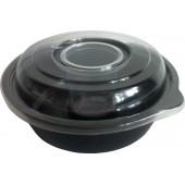 Контейнер КД-110-С  салатный 450мл с крышкой и соусником 80мл