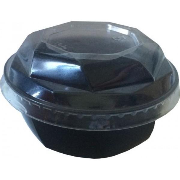опт Салатник (креманка) КД-117 с крышкой 220мл прозрачный