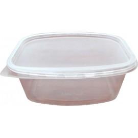 Контейнер пищевой 500мл прозрачный ПП 138х102 с крышкой