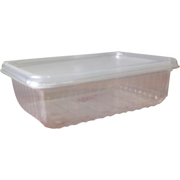 Контейнер пищевой 750мл прозрачный ПП 179х132 с крышкой
