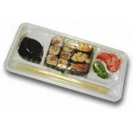 Контейнер для суши и роллов КД-001 с крышкой  (1 порция)