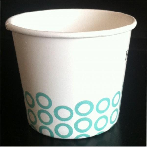Стаканчик для мороженого бумажный 150 мл с логотипом заказчика