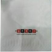Салфетки бумажные с Вашим логотипом 24х24/2сл/ 2цв
