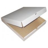 Коробка для пиццы 33х33 белая/бурая