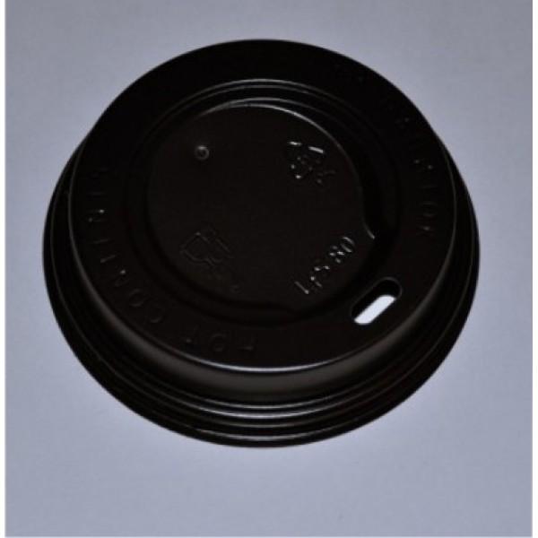 Крышка тёмная для стакана D 80мм