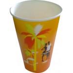 Стакан бумажный 500 мл с двойной ламинацией для холодных напитков с Вашим логотипом