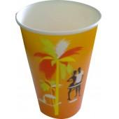 Стакан бумажный 400 мл с двухсторонней ламинацией для холодных напитков с Вашим логотипом