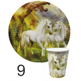 """Тарелка и стакан  бумажная коллекция (набор)  дизайн детский """"Волшебные сказки"""""""