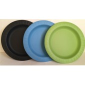 Тарелка 230 мм цветная биоразлагаемая