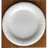 Тарелка картонная круглая белая 165 мм СбТ