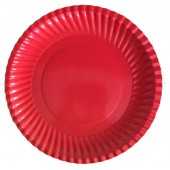 Тарелка бумажная 230 мм с Вашим логотипом (Ракушка)