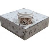 Упаковка бумажная (картонная) коробка для еды на вынос