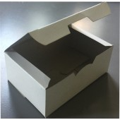 Коробка для картофеля фри, наггетсов, картонная закрывающаяся без рис